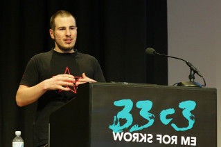 Me during a talk at the 33c3
